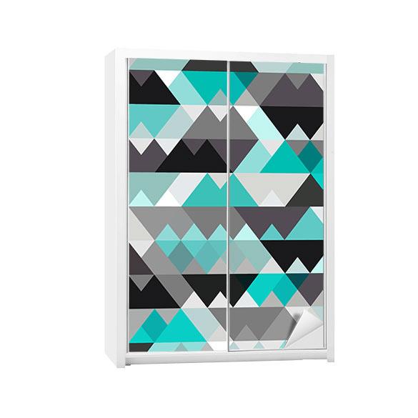 sticker pour armoire cadre rond avec les poissons. Black Bedroom Furniture Sets. Home Design Ideas