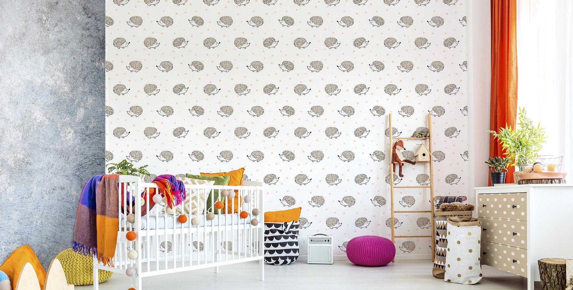 fr hliche kleine igel skandinavisch kinderzimmer. Black Bedroom Furniture Sets. Home Design Ideas