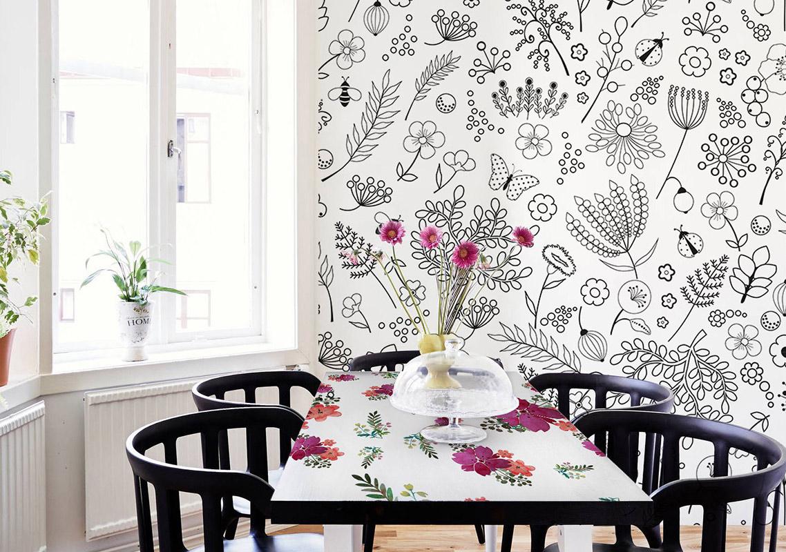 Mesa floral en tu comedor • Para el comedor - Contemporáneo ...