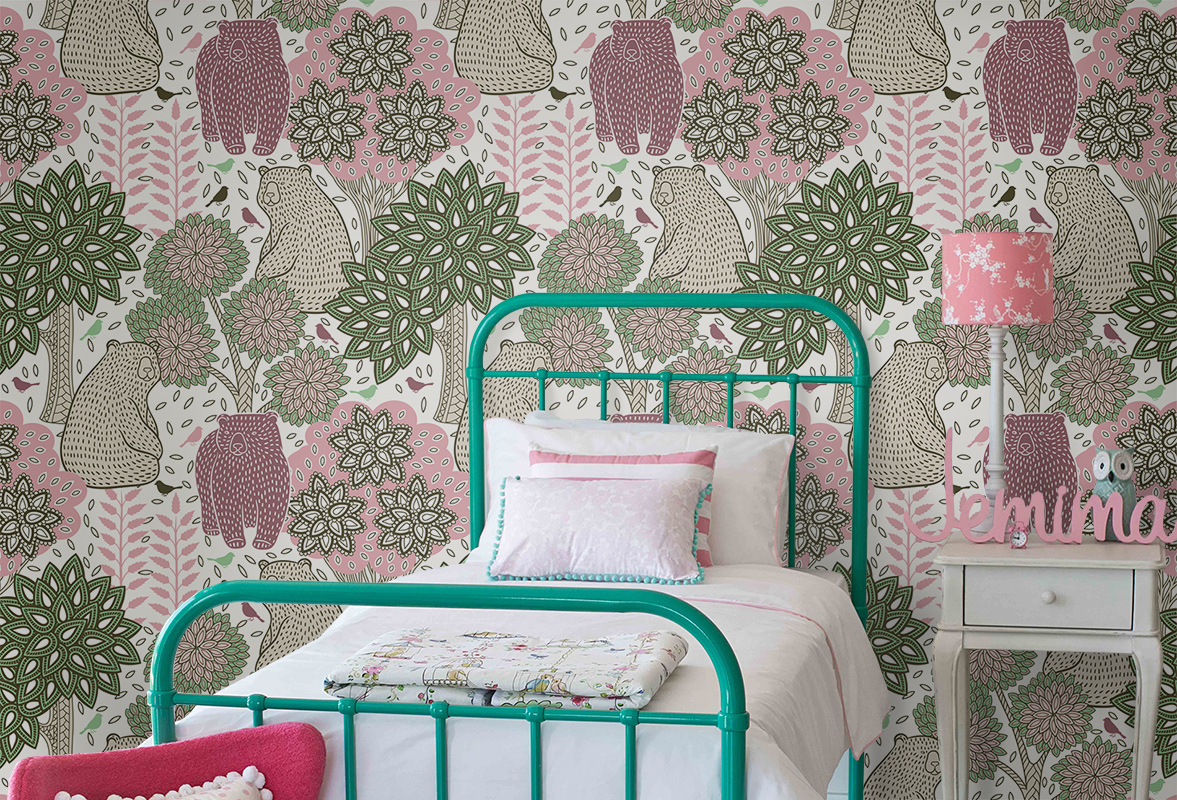 Berry bears • Teenager's room - Kids room - Shabby Chic - Wall Murals