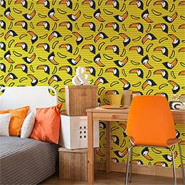 Wall Mural Teenager's Room - Toucan Dizziness