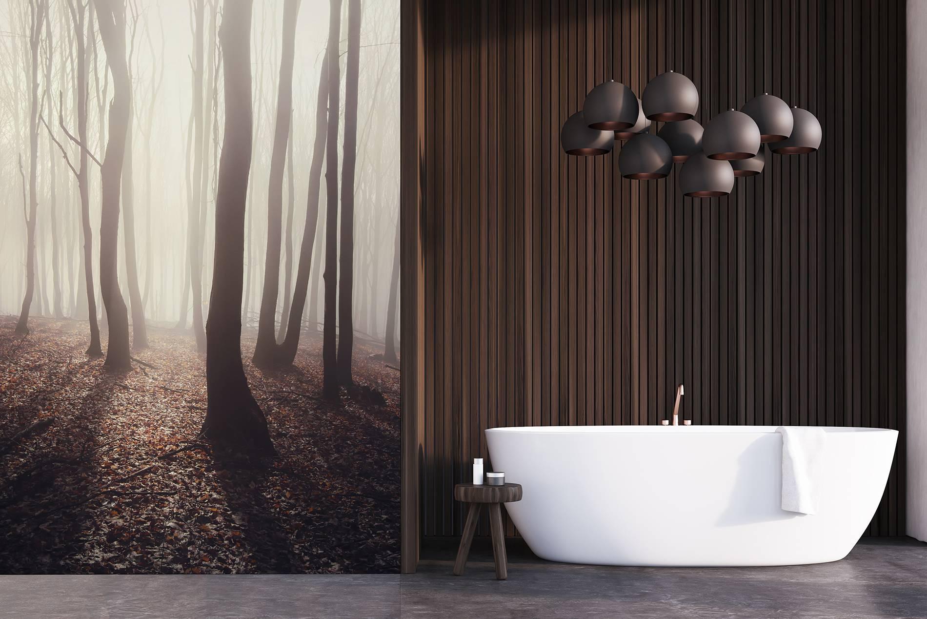 Klassiek bruin • Badkamer - Modern - Fotobehang - Natuur • Pixers ...