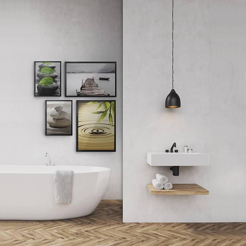 Bagno calm per bagno contemporaneo stampe natura - Stampe per bagno ...