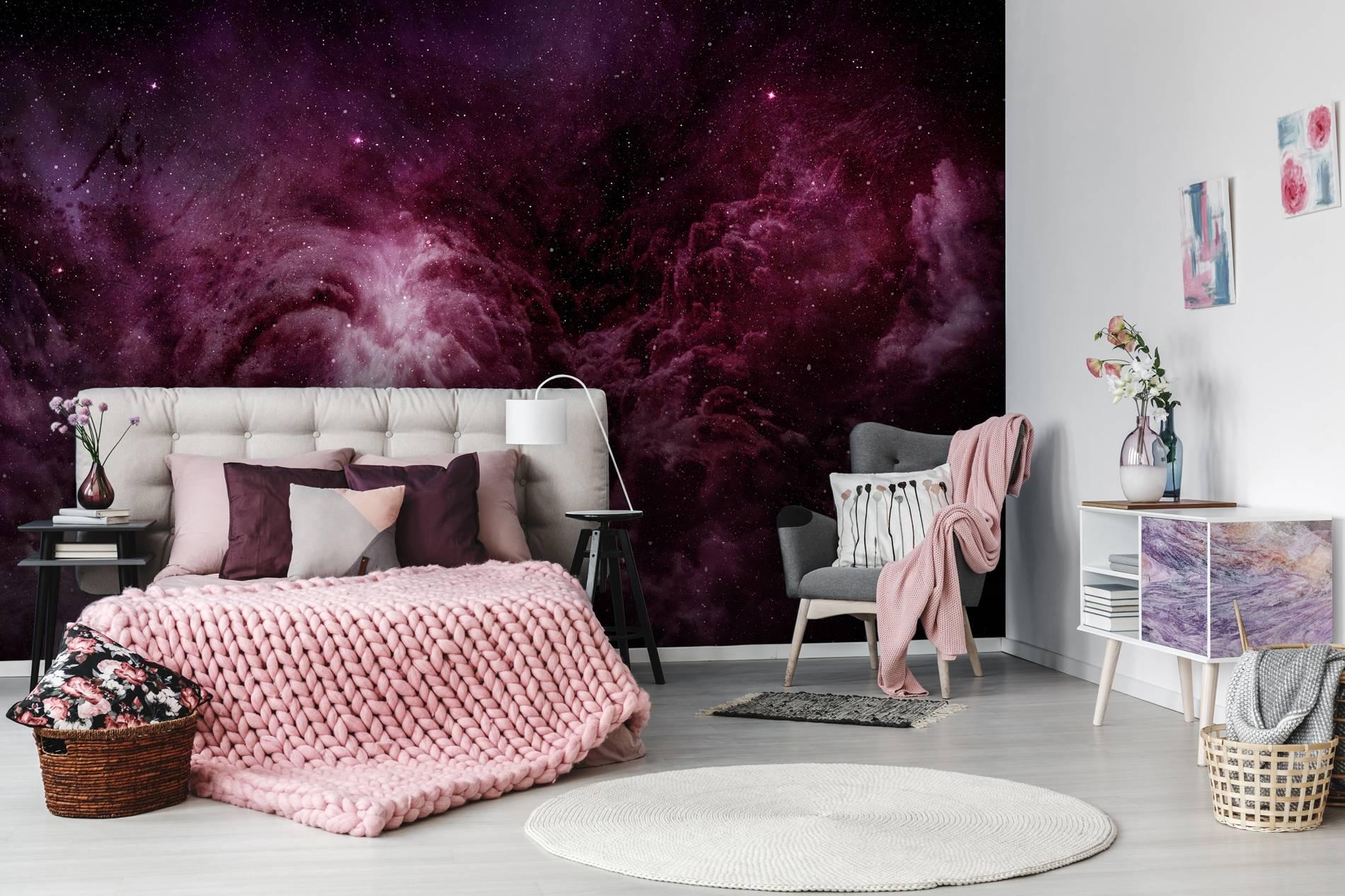 Cosmos viola u contemporaneo per camera da letto carte da