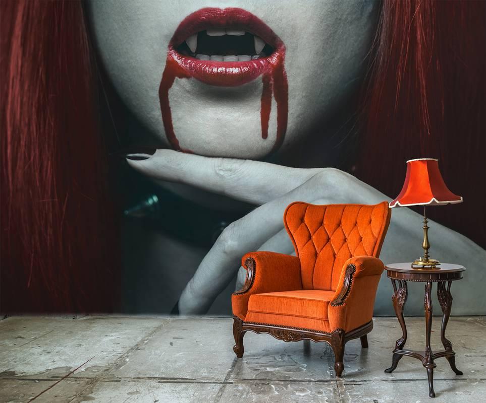 Papel pintado Halloween vampiro