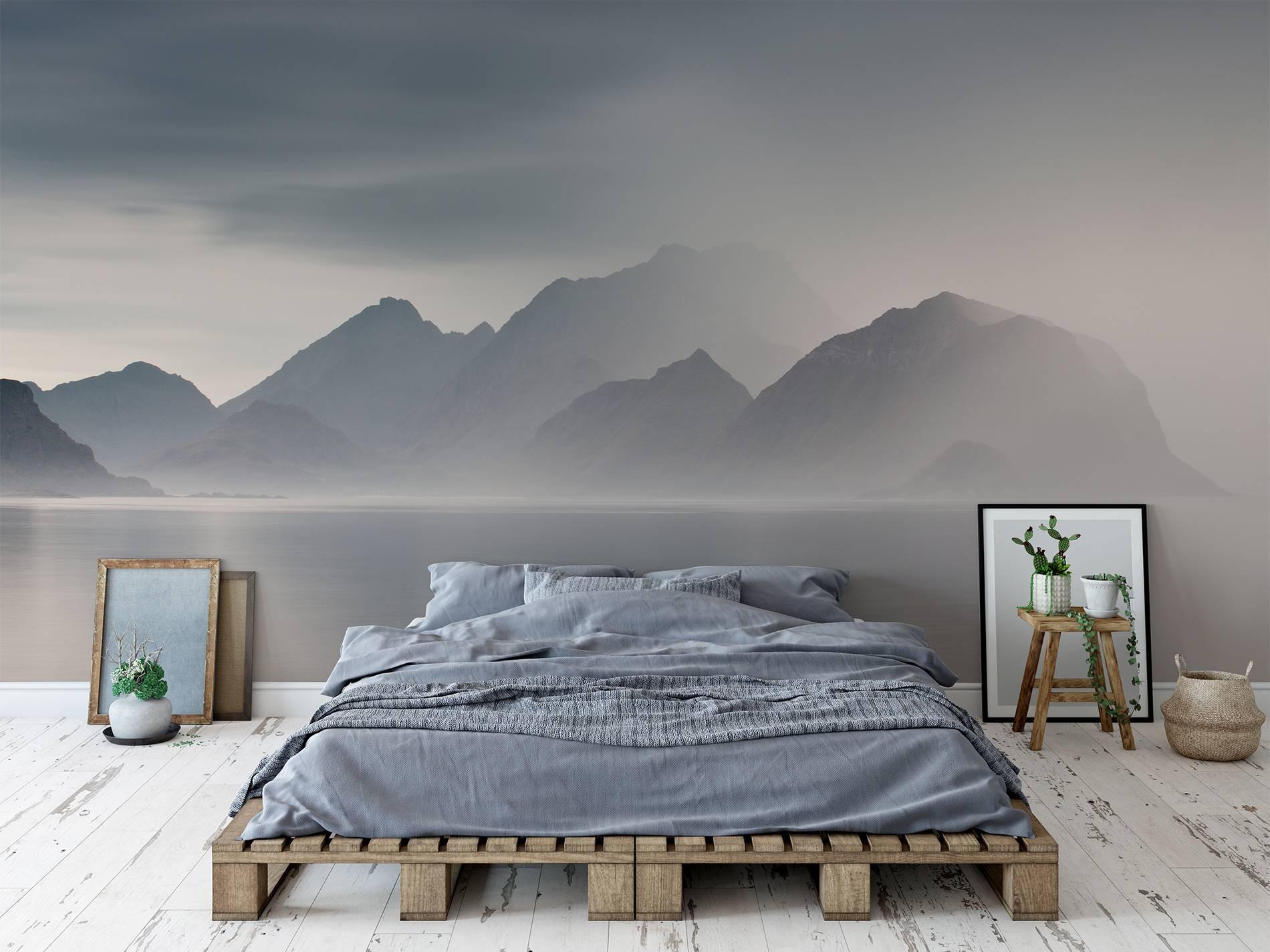 Foggy lake • Scandinavian - Bedroom - Nature - Wall Murals