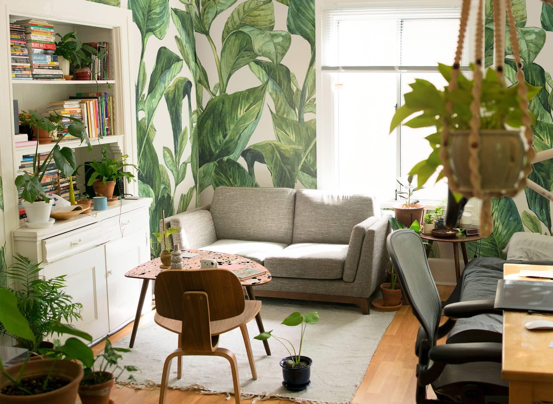 wohnzimmer in gr n wohnzimmer modern fototapeten natur pixers wir leben um zu. Black Bedroom Furniture Sets. Home Design Ideas