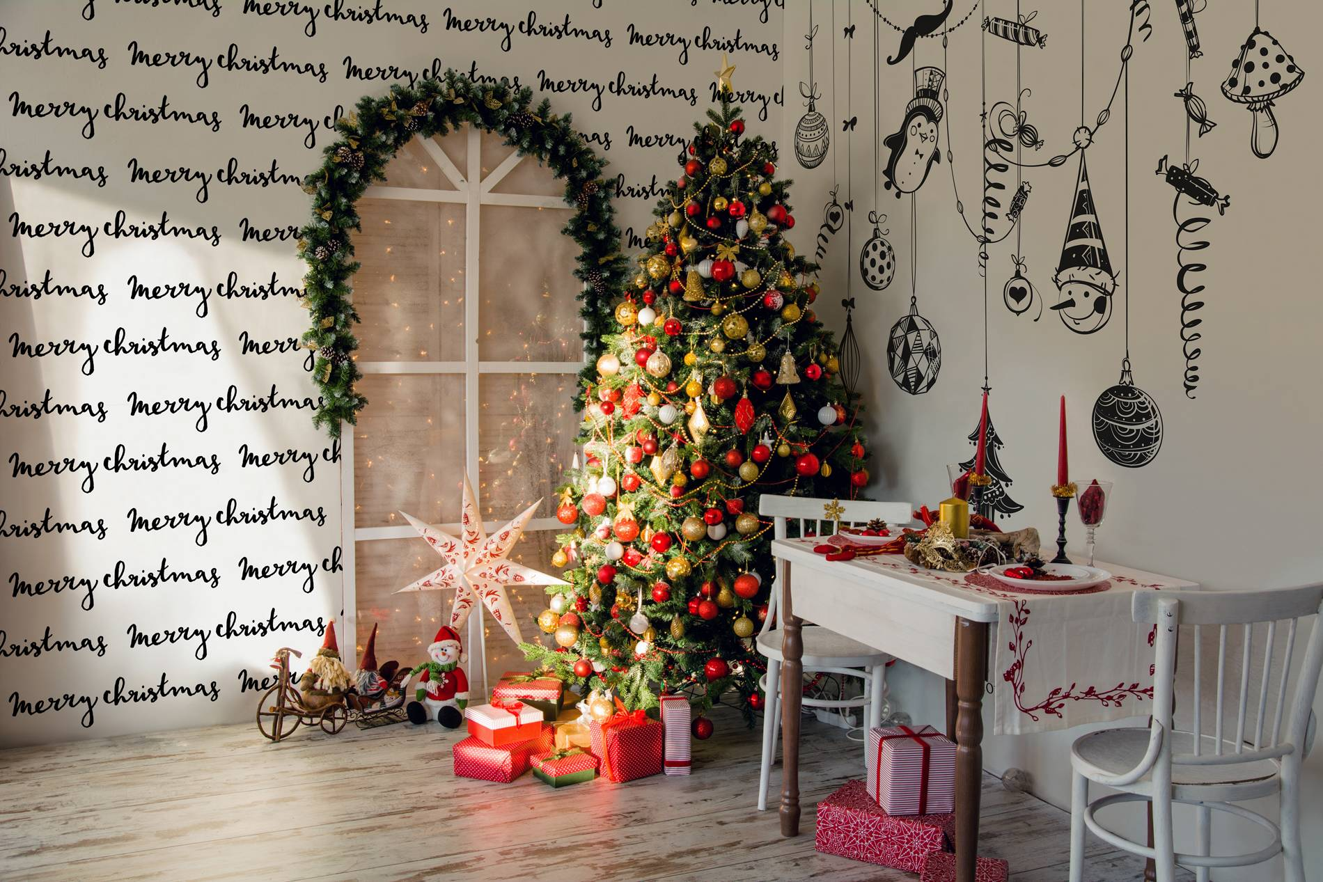 stylish Christmas • Provencal - Kitchen - Wall Murals - Stickers