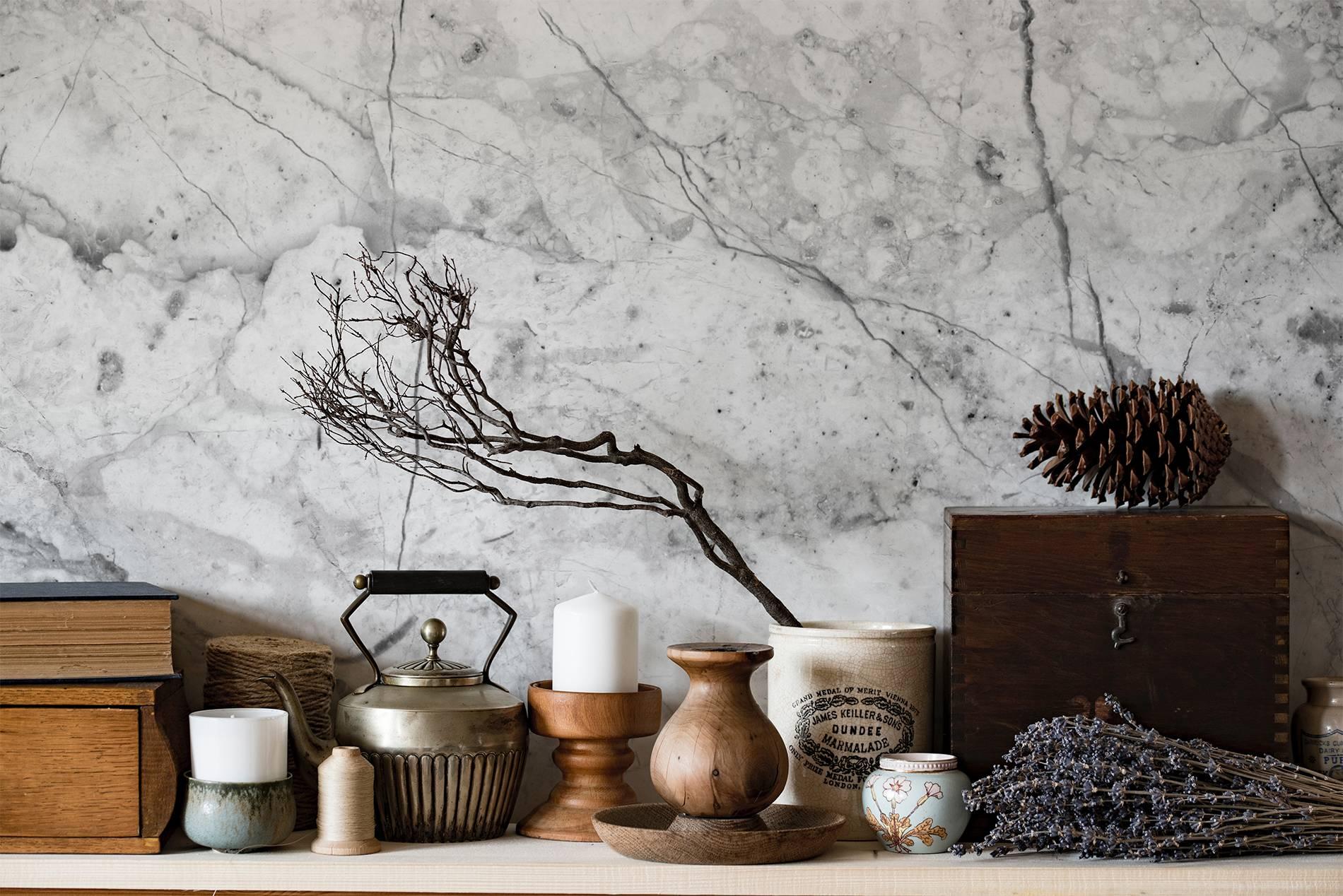 Wabi Sabi Style Scandinavian Living Room Wall Murals