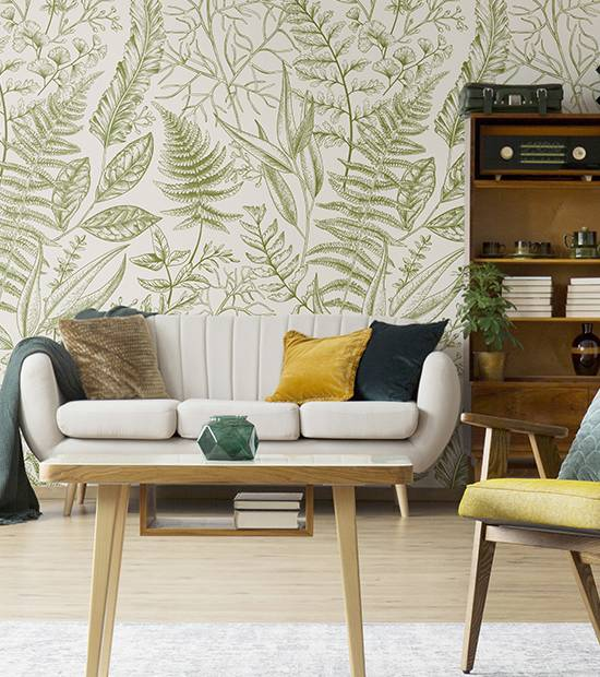 Wall mural - Leaves pattern