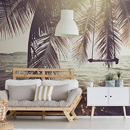 Vinyl wall mural - Tropical beach