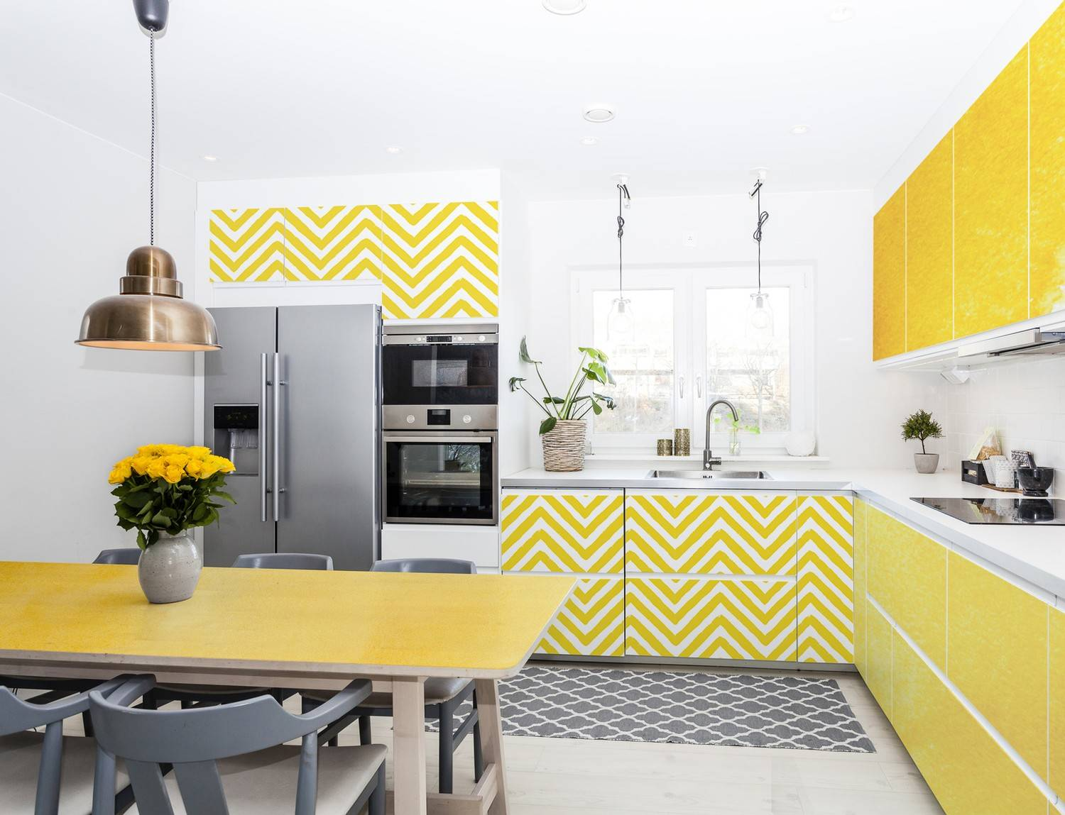 Lemon kitchen • Kitchen - Contemporary - Stickers - Abstraction ...