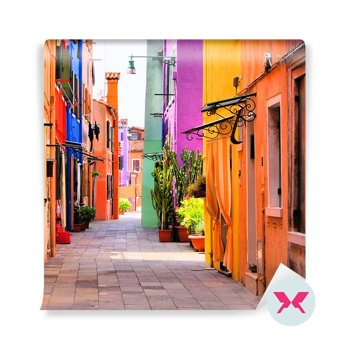 Wall mural - A colorful Italian alley