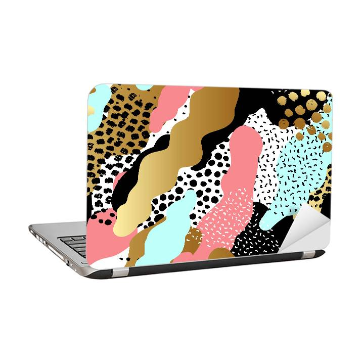 Laptop sticker - Abstract pattern in spots and dots