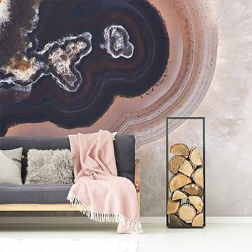 Wall mural - Cross-section of the mineral