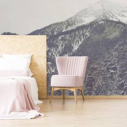 Wall mural - Mountains in the fog