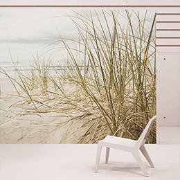Wall mural - Grass on the beach