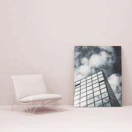 Framed Poster - Office building in the clouds
