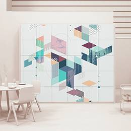 Pixerstick Sticker - Geometric board