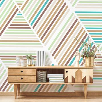 Wall mural - Retro stripes
