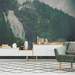 Wall mural - Mountain forest