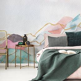 Wall mural - Pastel mountains