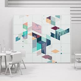 Pixerstick Sticker - Colorful geometric mosaic