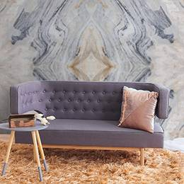 Wall mural for the living room - Soft pattern