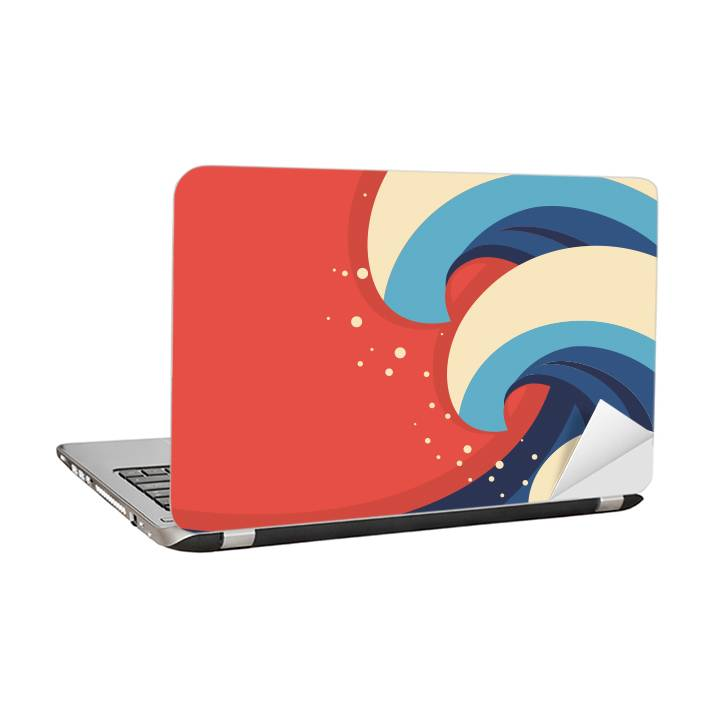 Laptop sticker - Colorful waves