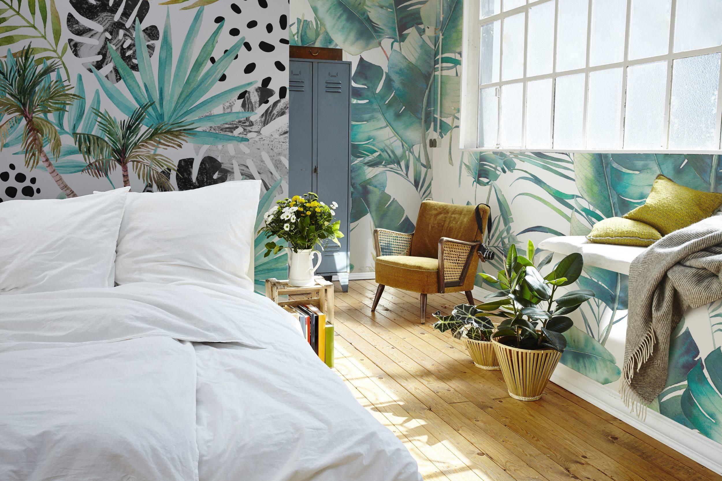 Natuur Behang Slaapkamer : Tropische dromen u2022 modern slaapkamer fotobehang natuur