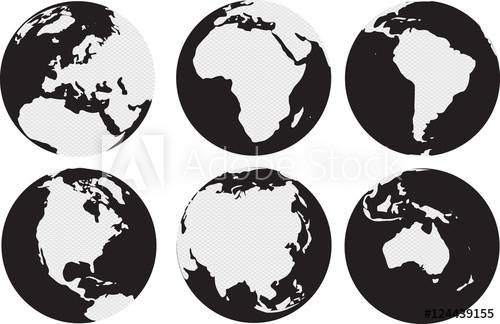 Continents Canvas Prints
