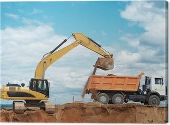 Excavators Canvas Prints