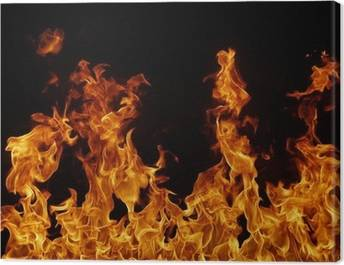 Fire and flames Canvas Prints
