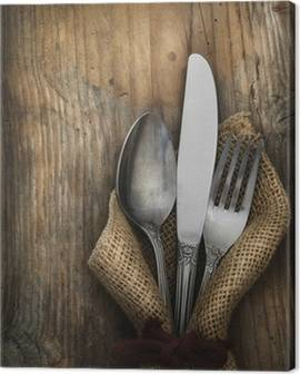 Kitchen cutlery Canvas Prints
