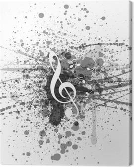 Music notes Canvas Prints