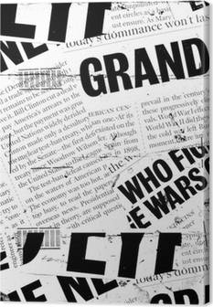 Newspapers Canvas Prints