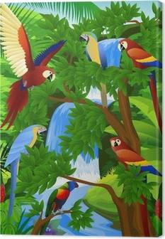 Parrots Canvas Prints