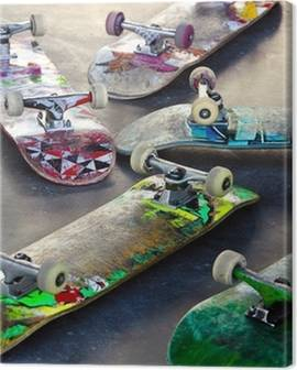 Canvastavlor Skateboard