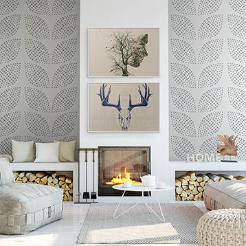 Wall Mural - Delicate pattern with leaves