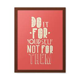 Wall mural - Do it for yourself