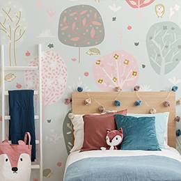 Attrayant Vinyl Wall Mural   Delicate Pink Trees