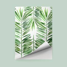 Pixerstick Sticker - Extended leaves of palm trees
