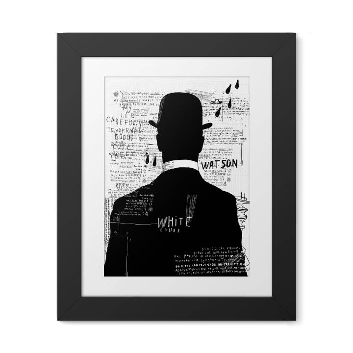 Framed Poster - Black and white gentleman