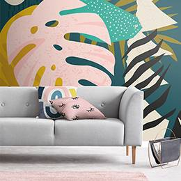 Wall Mural - NIrregular pastel shapes