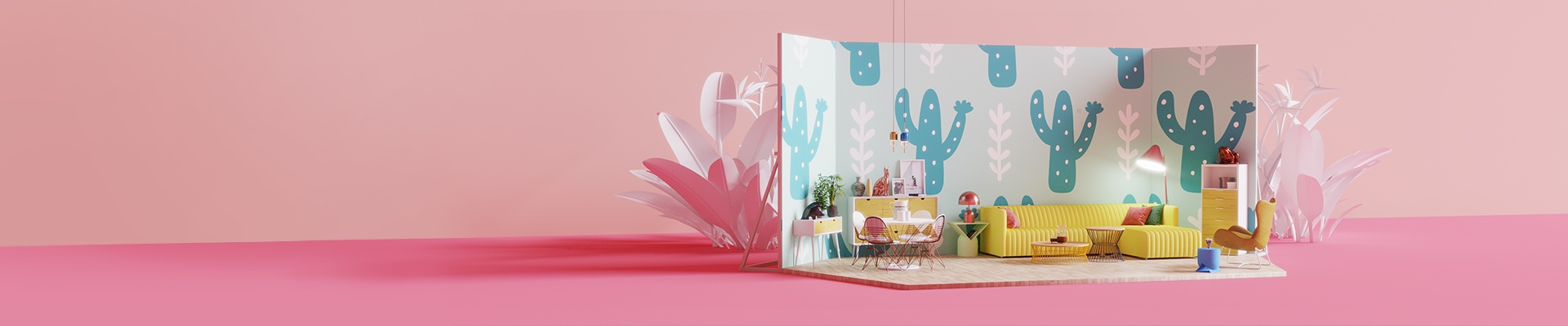 Wall Mural - Cacti and branches