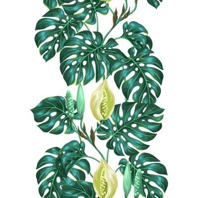 Jednolite wzór z liści Monstera. Obraz dekoracyjne tropikalnych liści i kwiatów. Tło wykonane bez wycinek maska. Łatwy w obsłudze dla tło, tekstylia, papier pakowy