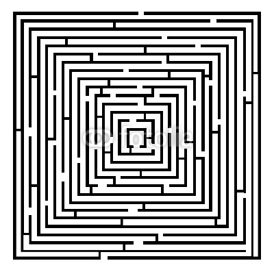 Vector illustration of simple vector maze