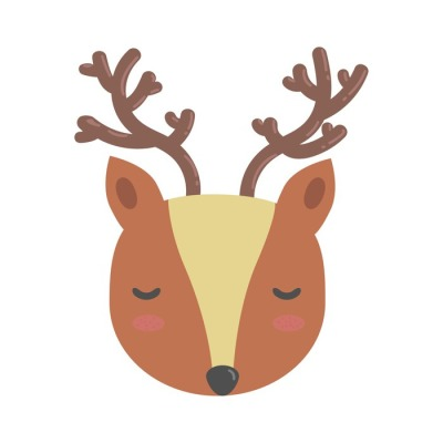 Cute cartoon deer vector.