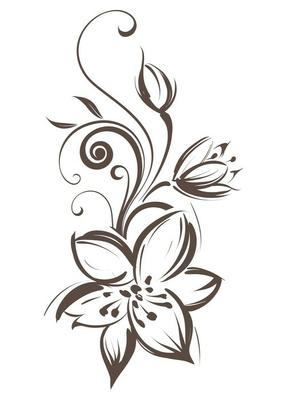 Vector stylized flower