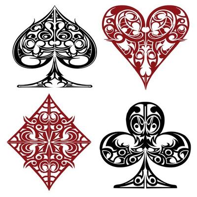 vector illustration iconic poker game